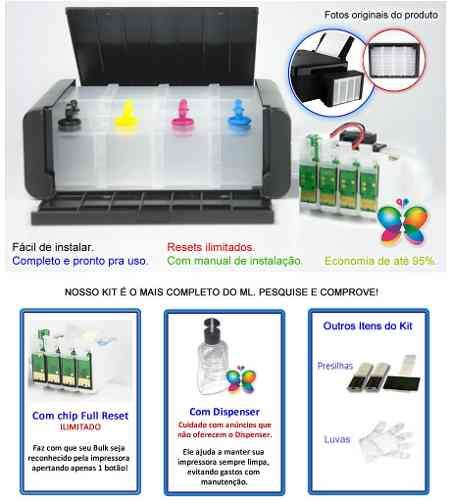 Bulk Ink Epson Tx105 Tx115 T23 Ecotank+ 4 Frascos De Tinta