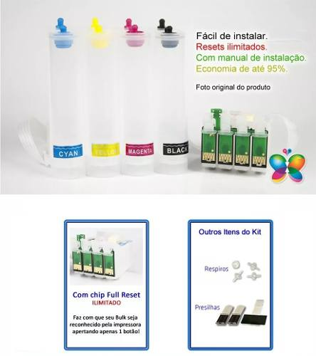 Bulk Ink Para Epson T25 Tx123 Tx125 Tx133 Tx135 - Sem Tinta