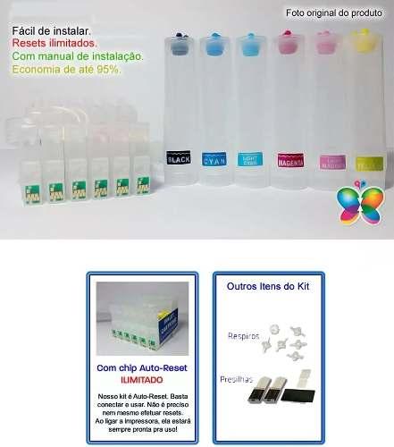 Bulk Ink Epson R200 R210 R220 R300 R320 - Sem Tinta