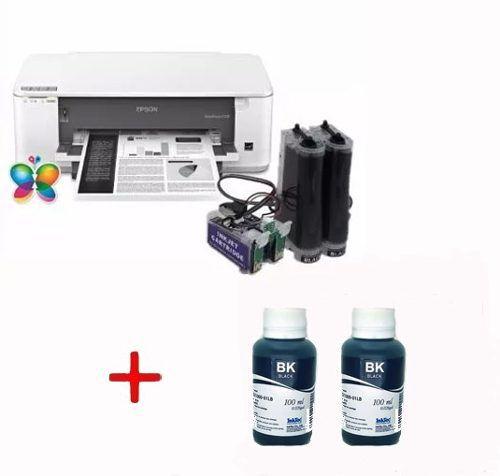 Bulk Ink Epson K101 K301 Mono + 2 Frascos De Tintas