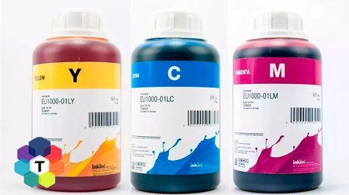 3 Frascos De 500 Ml - Tinta Corante Inktec Epson - Eu1000