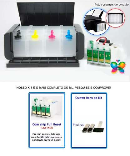 Bulk Ink Para Epson Xp214 Xp401 Xp204 Xp411 Luxo - Sem Tinta