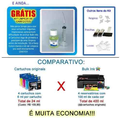 Bulk Ink Epson Tx125 Tx135 Tx133 Tipo Ecotank + Tinta Inktec