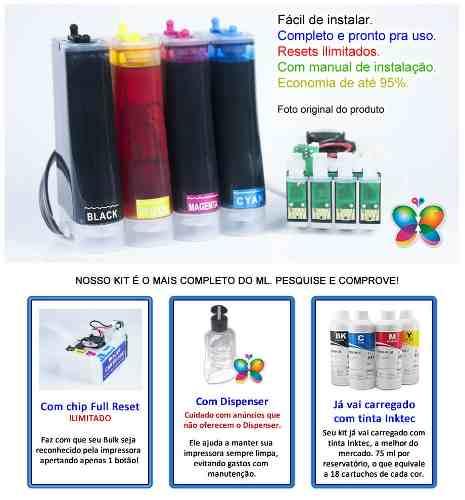 Bulk Ink Para Epson Xp214 Xp401 Xp204 + Kit Limpeza + Tinta