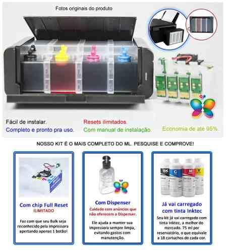 Bulk Ink Para Epson Xp214 Xp401 Xp204 Luxo + Tinta Pigmentada