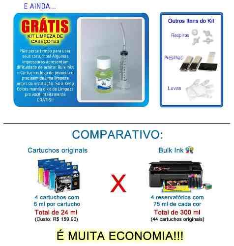 Bulk Ink Para Epson Tx620 Tx560 T42w + Kit Limpeza+ Tinta Inktec