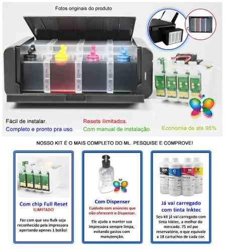 Bulk Ink Epson Tx420 Tx235 Tx320f Ecotank + Tinta Pigmentada