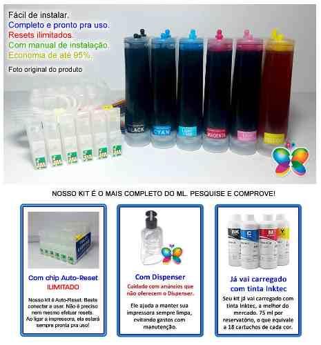 Bulk Ink Para Epson R200 R210 R220 R300 + Tinta Pigmentada Inktec