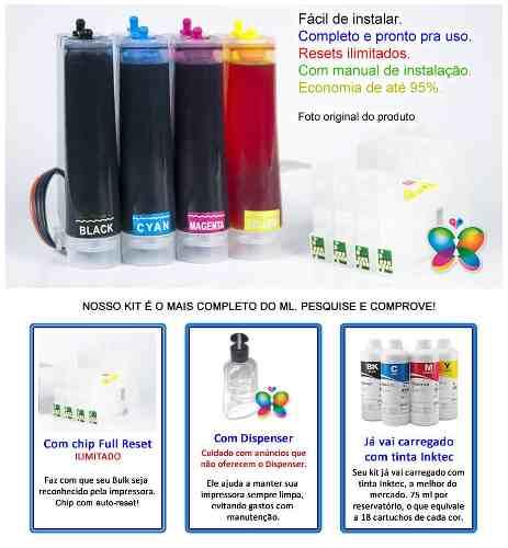 Bulk Ink Para Epson C67 C87 Cx4700 + Tinta Sublimatica Inktec