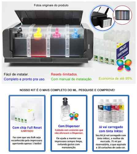 Bulk Ink Para Epson C67 C87 Cx4700 - Tipo Luxo + Tinta Inktec