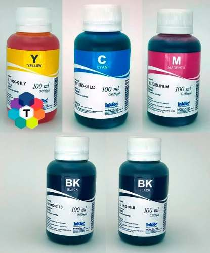 5 Frascos De 100 Ml - Tinta Corante Inkt