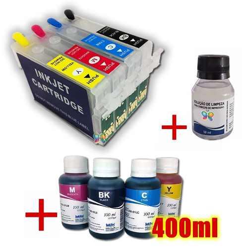 Cartucho Recarregável Tx200 Tx220 Tx400 + Tinta Pigmentada
