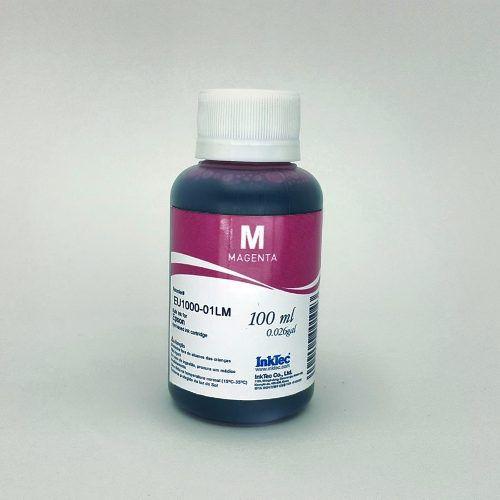 100 Ml - Tinta Corante Inktec Epson - Magenta - Eu1000 - Magenta