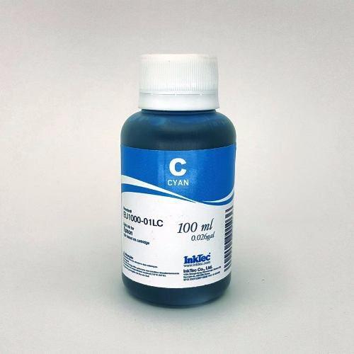 100 Ml - Tinta Corante Inktec Epson - Cyan - Eu1000 - Cyan