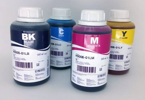 4 Frascos De 500 Ml Tinta Corante Inktec Hp - H0005 / H0006