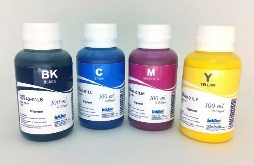 4 Frascos De 100 Ml - Tinta Pigmentada Inktec Hp - H8940
