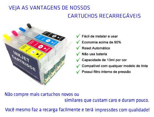Cartucho Recarregável Tx135 Tx125 T25 + Tinta Pigmentada