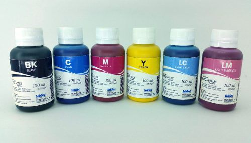 6 Frascos De 100 Ml - Tinta Pigmentada Inktec Epson - E0007