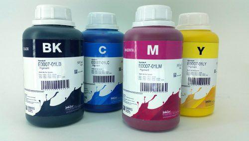 4 Frascos De 500 Ml - Tinta Pigmentada Inktec Epson - E0007