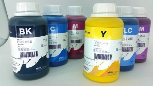 6 Frascos De 500 Ml - Tinta Pigmentada Inktec Epson - E0007