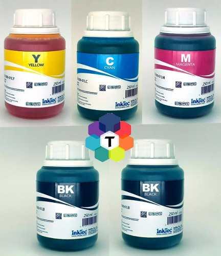 5 Frascos De 250 Ml - Tinta Corante Inktec Epson - Eu1000