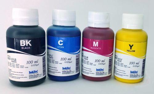 4 Frascos De 100 Ml - Tinta Pigmentada Inktec Epson - E0007