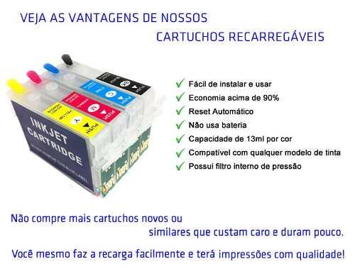 Cartucho Recarregável Tx135 Tx125 T25 Tx133 + 400ml Tinta