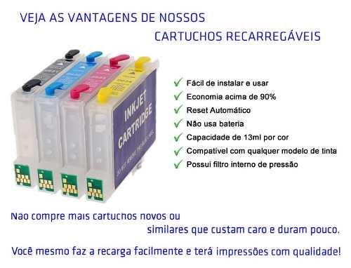 Cartucho Recarregável C63 C83 Cx6300 + 400ml De Tinta Inktec