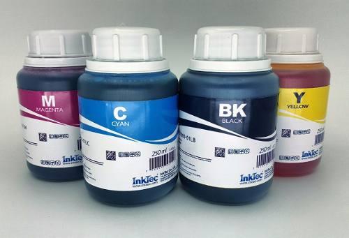 4 Frascos De 250 Ml - Tinta Corante Inktec Epson - Eu1000