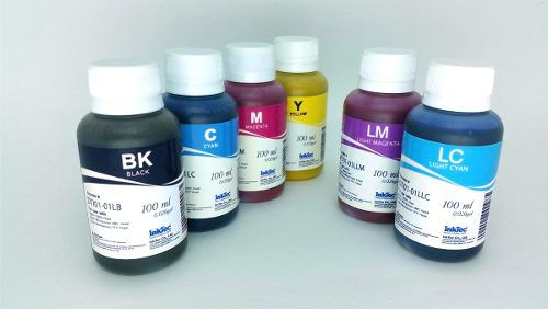 Kit Tinta Sublimática Inktec Original - 600 Ml (6 Frascos)