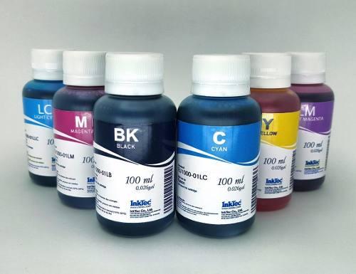 Kit 6x 100ml Tinta Inktec Epson L800, L805, T50, L1800, R200