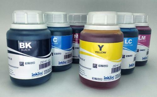 6 Frascos De 250 Ml - Tinta Corante Inktec Epson - Eu1000