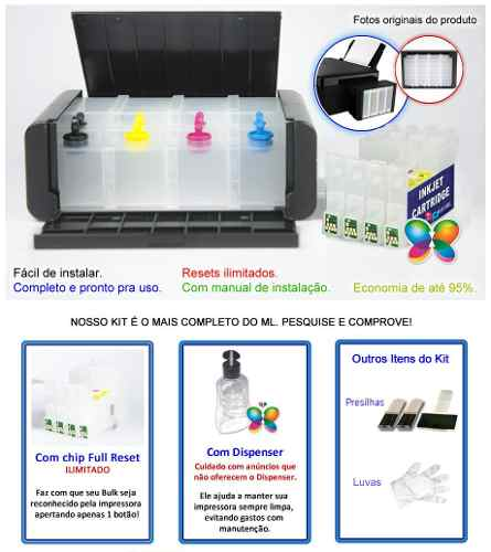 Bulk Ink Para Epson C63 C65 Cx4500 - Tipo Luxo - Sem Tinta