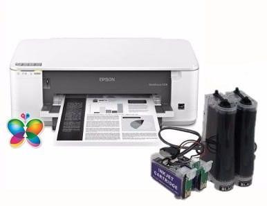 Bulk Ink Epson K101 K301 Mono+ Kit Limpeza+ Tinta Pigmentada
