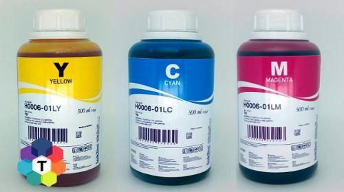 3 Frascos De 500 Ml - Tinta Corante Inktec Hp H0005 / H0006