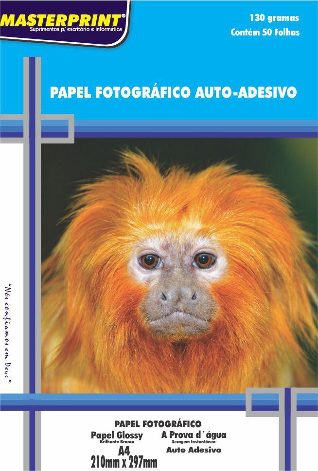 Papel Foto Adesivo 130g Glossy Master Print 100 Folhas A4