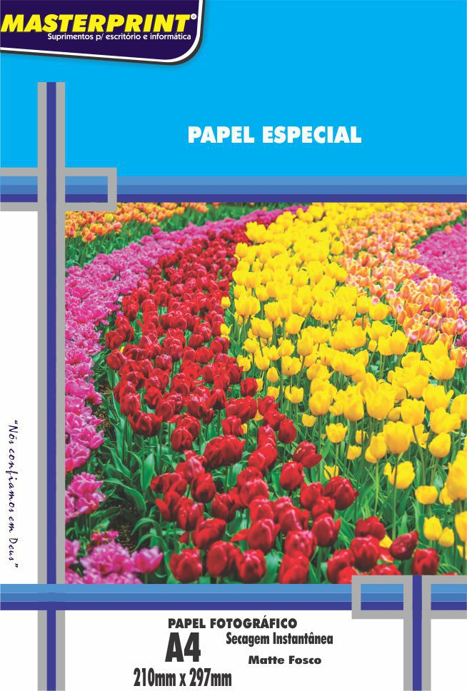 Papel Foto Matte (Fosco) 170g Master Print 100 Folhas A4