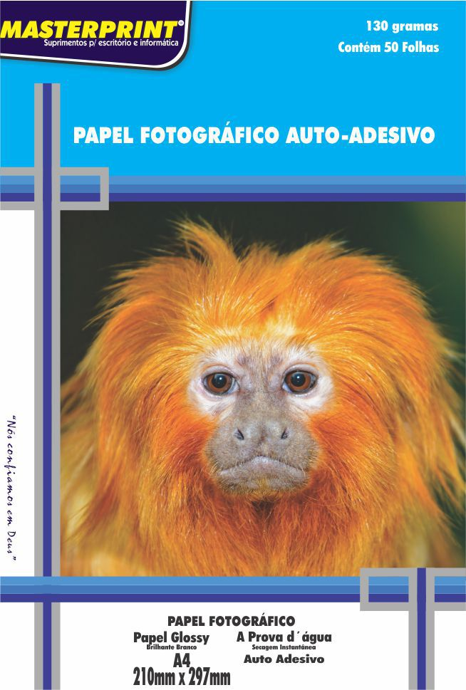 Papel Fotográfico Adesivo 130g Master Print 1200 Folhas A4