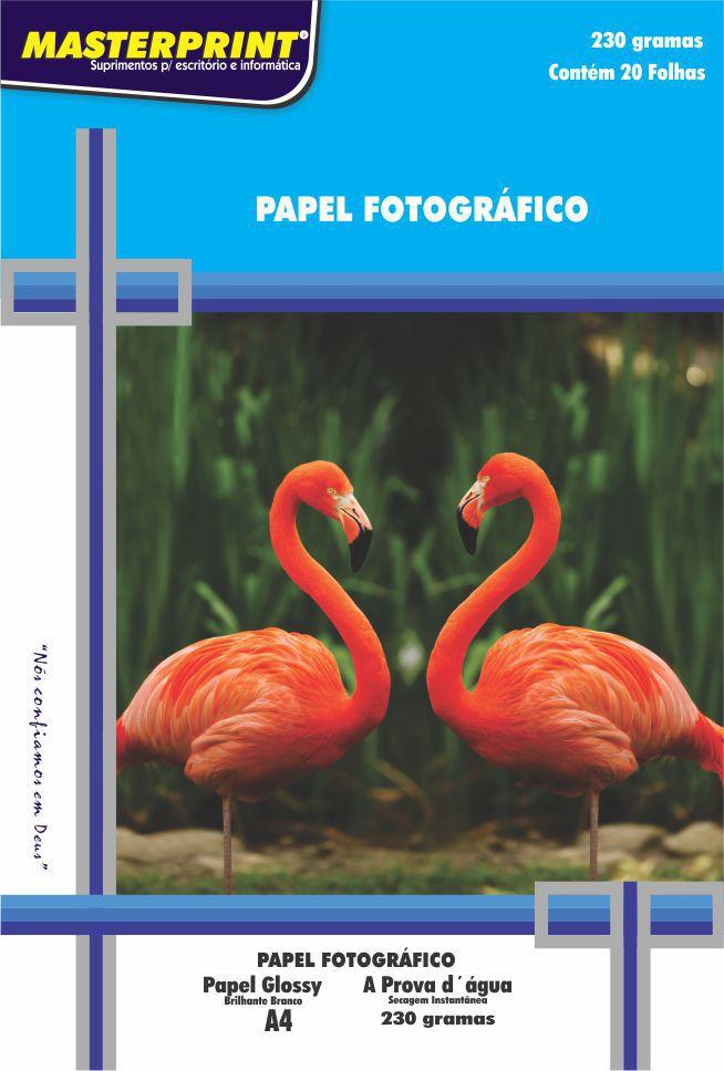 Papel Fotográfico Glossy 230g Master Print 200 Folhas A4