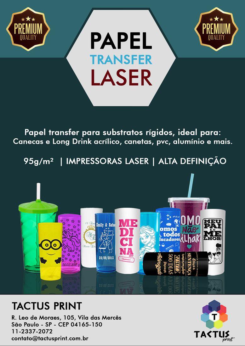Papel Transfer Laser  95g  - Alta Qualidade - 100 folhas A4