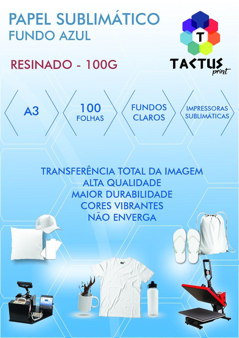 Papel Transfer Sublimático Fundo Azul 100g 100 Folhas A3