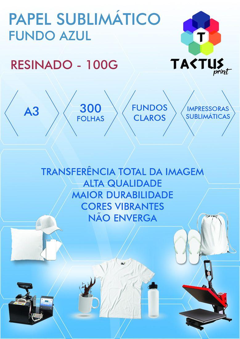 Papel Transfer Sublimático Resinado 100g 300 Folhas A3