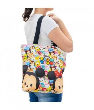 Bolsa Com Zíper Mickey & Minnie Tsum Tsum