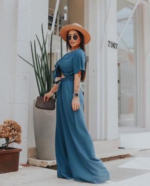 Calça Pantalona Azul Pruciane