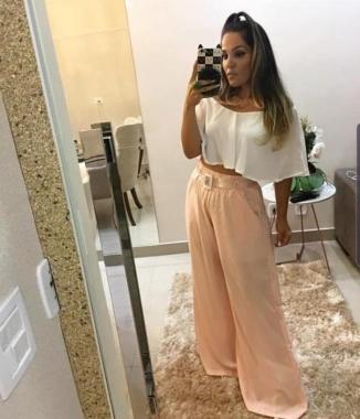 Calça Pantalona Rosê