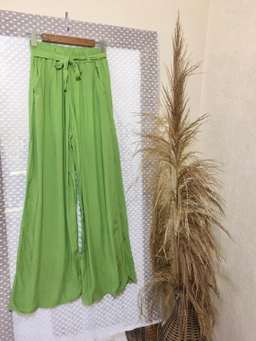 Calça Pantalona Verde Maça