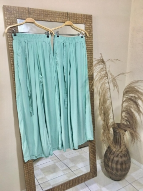 Calça Pantalona  Verde-Menta