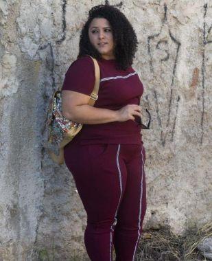 Conjunto Feminino Plus Size Marsala