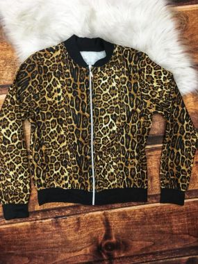 Jaqueta Bomber Animal Print