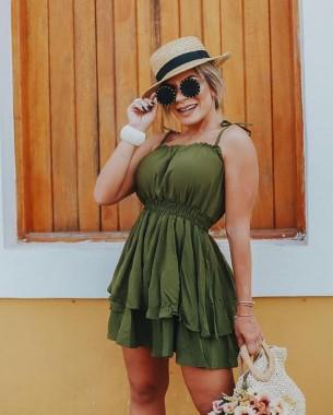Macaquinho Ingrid Verde-Musgo